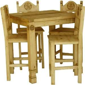 Rustic Square Star Gathering Dining Table Set Furniture & Decor