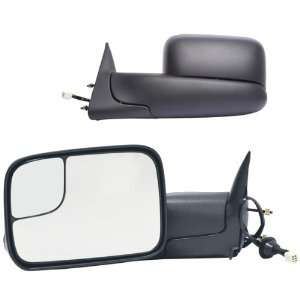 Side Heated Glass Power Replacement Towing Mirror Set with Dual Glass