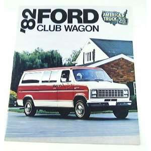 1982 82 Ford CLUB WAGON Van BROCHURE E100 E150 E250