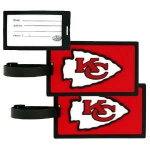 Kansas City Chiefs   NFL Luggage Tags (2 Pack) Sports
