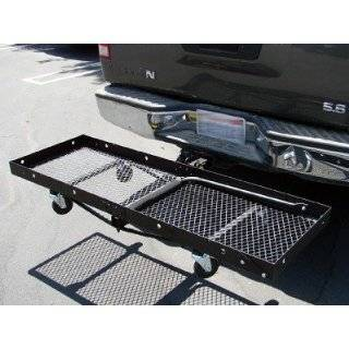 Cargo Luggage Carrier Hauler with Trailer Jack and Wheels Automotive