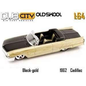 Jada Dub City Oldskool Gold & Black 1962 Cadillac 164