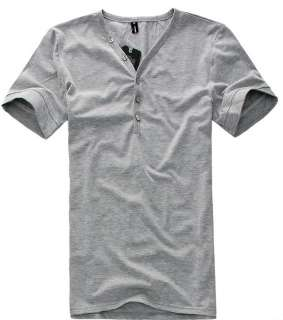 Mens Stylish Slim fit V Neck Sexy Cotton T shirt h207