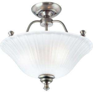 Progress Lighting Renovations Collection Antique Nickel 3 light Semi