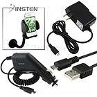Car+AC Wall Charger+USB Cable+Insten Mount Holder For HTC myTouch 4G