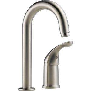 Delta Waterfall Single Handle Bar Faucet in Stainless Steel 1903 SS