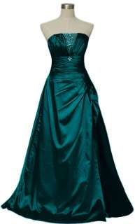 Elegant Darkgreen Womens Prom Evening Gown Dress size
