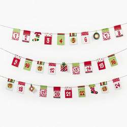 til Christmas Countdown Garland Advent Calendar Holiday Decoration