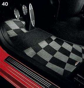 MINI Cooper John Works JCW Checkered Front Floor Mats