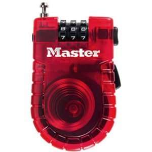 Master Lock 4605D 3 Foot Retractable Cable Lock (colors may vary) NEW
