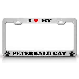High Quality STEEL /METAL Auto License Plate Frame, Chrome/Black