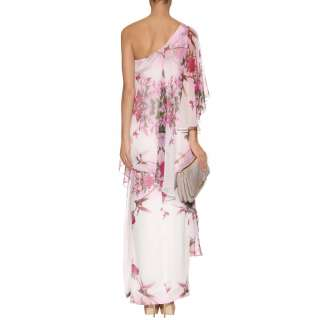 Marchesa Notte   ONE SHOULDER FLORAL EVENING GOWN