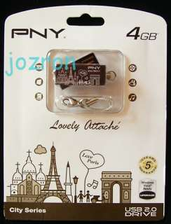 PNY 4GB 4G USB Flash Pen Drive Disk New Paris Chocolate
