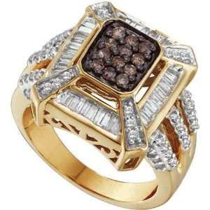 14 Karat Yellow Gold Diamond Fashion Ring With White And