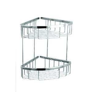 Aquabrass 02067PC Polished Chrome Basket Two Tier Triangular Shower