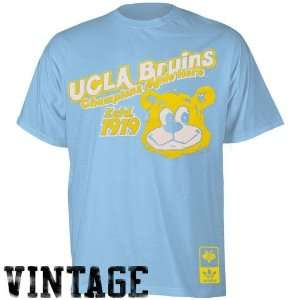 adidas UCLA Bruins Light Blue Vintage Mascot Super Soft Premium T