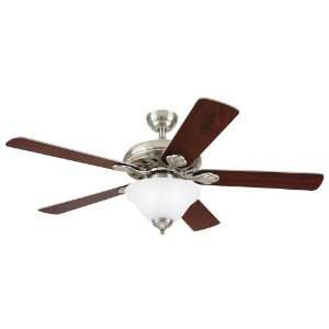 Westinghouse Mimosa One Light 52 Inch Five Blade Ceiling Fan, Brushed