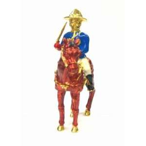 Horseman Box   Jewelry Trinket Box Swarovski Crystal