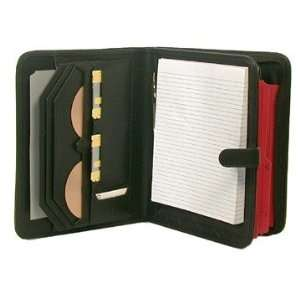 Deluxe Black Leather look Writing Pad and File Holder
