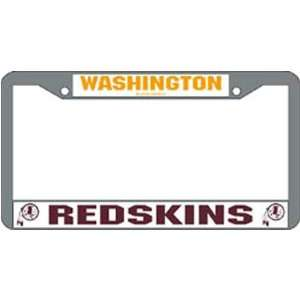 Washington Redskins NFL Chrome License Plate Frame