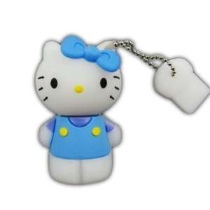 8GB Blue Hello Kitty USB Flash Drive Memory Stick Keychain