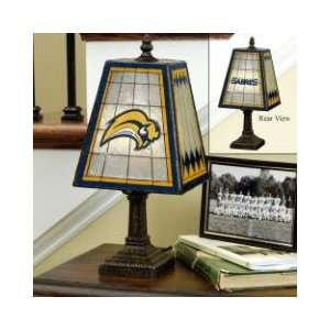 BUFFALO SABRES Team Logo Hand Painted ART GLASS TABLE LAMP