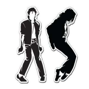 MICHAEL JACKSON 2 STICKER SET   Sticker Decal   #S0057