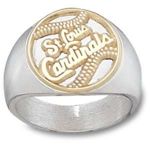 St. Louis Cardinals MLB  Card Baseball Ring Sz 10 1/2 (14kt)