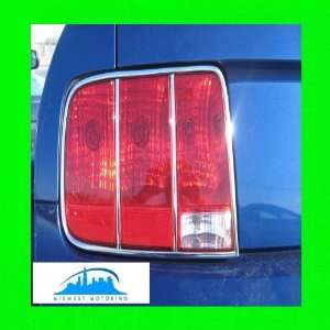 2005 2009 FORD MUSTANG CHROME TAILLIGHT TRIM MOLDINGS 6PC