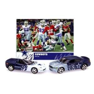 DALLAS COWBOYS NFL Diecast Dodge Charger & Chevrolet Corvette w/ Team