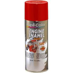 Color DE1632 Ceramic Chrysler Industrial Red Engine Paint   12 oz