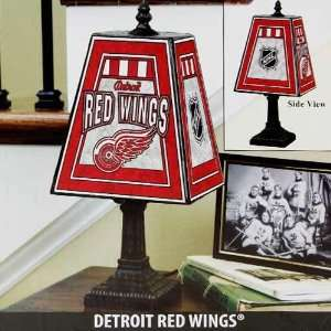 Detroit Red Wings Art Glass Table Lamp
