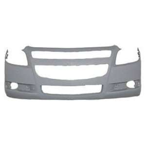 CV04167BB TY1 Chevy Malibu Primed Black Replacement Front Bumper Cover
