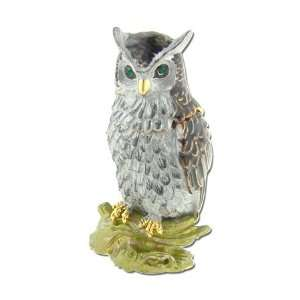 Swarovski Crystal Pave Owl Jeweled Box GAD514 BN