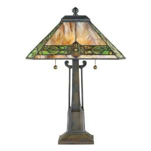 Tiffany Table Lamp with Tiffany Glass Shade, 40 Pieces of Tiffany