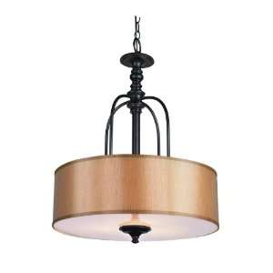 Trans Globe Lighting 9624 3 Light Hanging Large Pendant, Rubbed Oil
