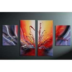 Piece Set Framed  Warm Colors of the Sunset    Hand Painted Oil Wall