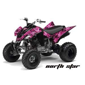 AMR Racing Yamaha Raptor 350 ATV Quad Graphic Kit   Northstar Pink