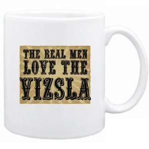 New  The Real Men Love The Vizsla  Mug Dog
