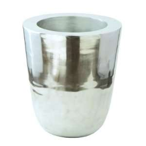 Heavy Cast Large Planter, Polished Aluminum