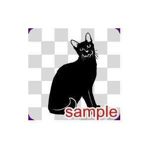 ANIMALS HALLOWEEN BLACK CATS 13 WHITE VINYL DECAL STICKER