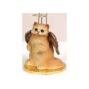Red Persian Angel Cat Ornament