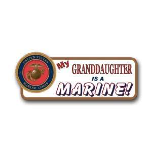 US Marine Pride My Granddaughter is a Marine Bumper Sticker Decal 9