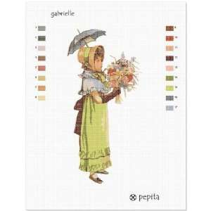 Gabrielle and Parasol Needlepoint Canvas Arts, Crafts
