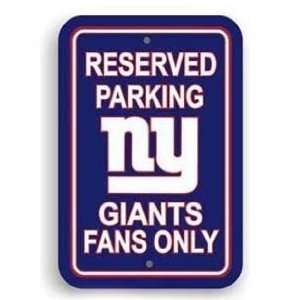 New York Giants Bar Decor Reserved Parking Sign