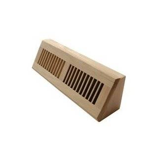 Inch White Oak Hardwood Register Cold Air Return Wall Vent Unfinished