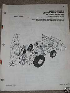 Case 680CK Series B Loader/Backhoe Tractor Parts Manual
