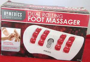 USED HOMEDICS DUAL ROLLING FOOT MASSAGER RED FMV 200