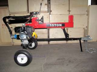 New 6.5HP 15 Ton Hydraulic Log Wood Splitter Gas Powered Engine Motor