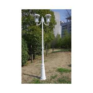 Gama Sonic USA GS 94D WHI Solar Lamp Post Patio, Lawn & Garden